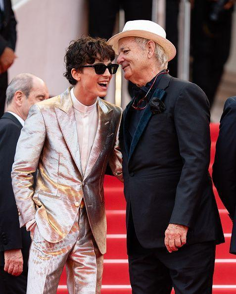 <p>Timothée and Bill have a 'Lost in Translation' whisper moment?</p>