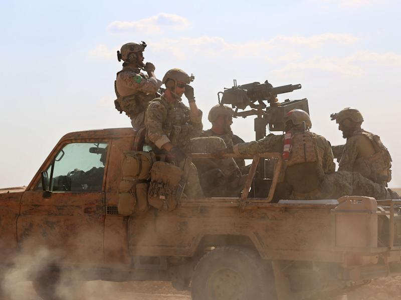 American forces have been supporting the assault on Mosul: DELIL SOULEIMAN/AFP/Getty Images