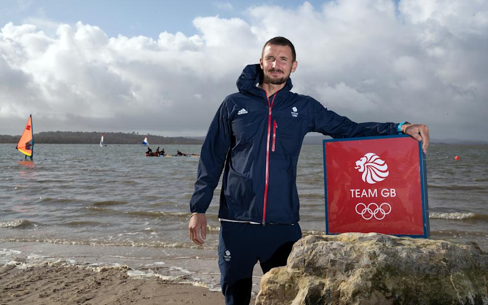 Great Britain's Giles Scott will look to defend his Olympic sailing title in Tokyo next year
