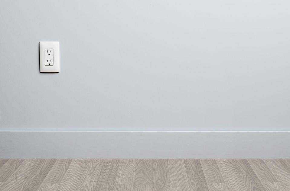 "<p>Don't neglect those baseboards! According to HGTV, you can <a href=""https://www.hgtv.com/lifestyle/clean-and-organize/how-to-clean-baseboards"" rel=""nofollow noopener"" target=""_blank"" data-ylk=""slk:tackle dirty baseboards using the brush attachment"" class=""link rapid-noclick-resp"">tackle dirty baseboards using the brush attachment </a>on your vacuum or a small whisk broom to remove dirt and dust from the surface. Be sure to clean the crevice between the bottom of the baseboard and the floor as well. </p><p>Once your baseboards are dusted, you'll want to tackle any food or dirt stains, particularly in your kitchen or mud room. Mix a bucket of warm water, liquid dish soap, and vinegar and use a melamine sponge or soft cloth to buff out stains. After, dry the baseboards with a clean towel.</p>"