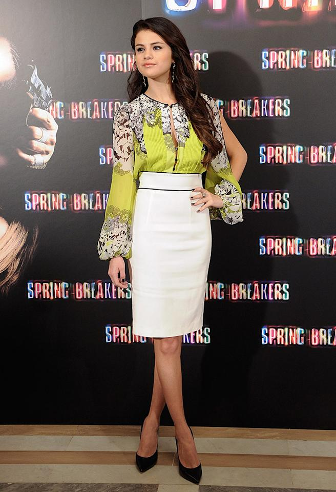 MADRID, SPAIN - FEBRUARY 21:  Selena Gomez attends a photocall for Spring Breakers at the Villamagna Hotel on February 21, 2013 in Madrid, Spain.  (Photo by Fotonoticias/WireImage)