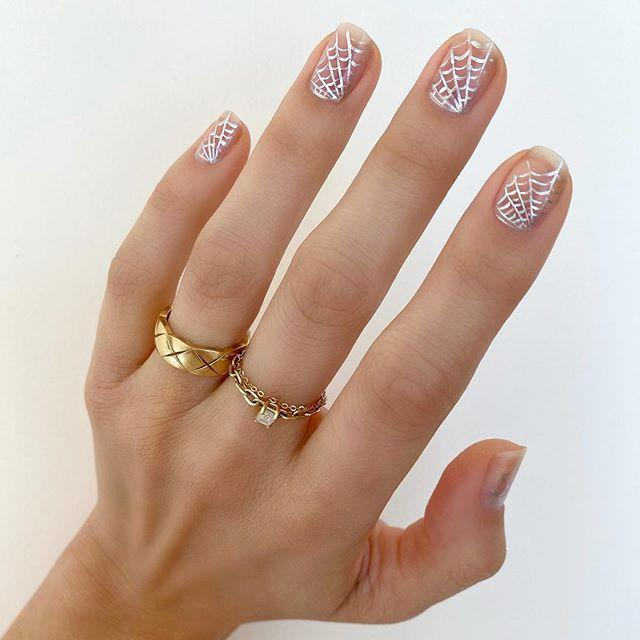 "<p>These spider webs are super dainty and pretty. Pair with gold jewelry for a trendy look. </p><p><a href=""https://www.instagram.com/p/B4P-LmZDy6O/?utm_source=ig_embed&utm_campaign=loading"" rel=""nofollow noopener"" target=""_blank"" data-ylk=""slk:See the original post on Instagram"" class=""link rapid-noclick-resp"">See the original post on Instagram</a></p>"