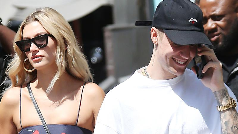 Justin Bieber Pulled Hailey Baldwin's Garter Down In The Sexiest Way