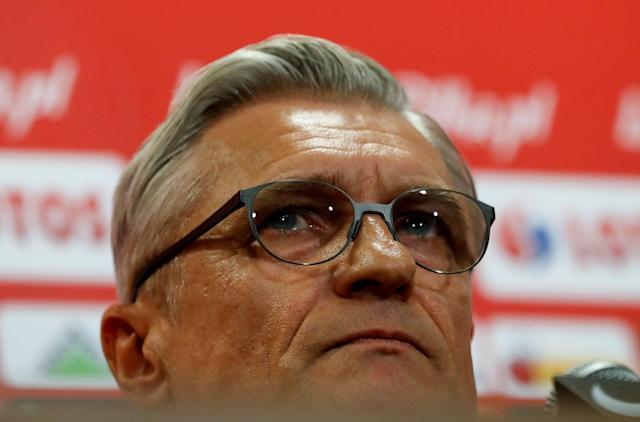 Soccer Football - Poland news conference - National Stadium, Warsaw, Poland - November 9, 2017. Poland's head coach Adam Nawalka during news conference. REUTERS/Kacper Pempel
