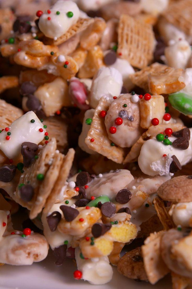 """<p>Finally catch that Elf on the Shelf in the midst of his crazy antics with this no-bake mischief munch.</p><p>Get the recipe from <a href=""""https://www.delish.com/cooking/recipe-ideas/recipes/a50574/elf-on-the-shelf-mischief-munch-recipe/"""" rel=""""nofollow noopener"""" target=""""_blank"""" data-ylk=""""slk:Delish"""" class=""""link rapid-noclick-resp"""">Delish</a>. </p>"""