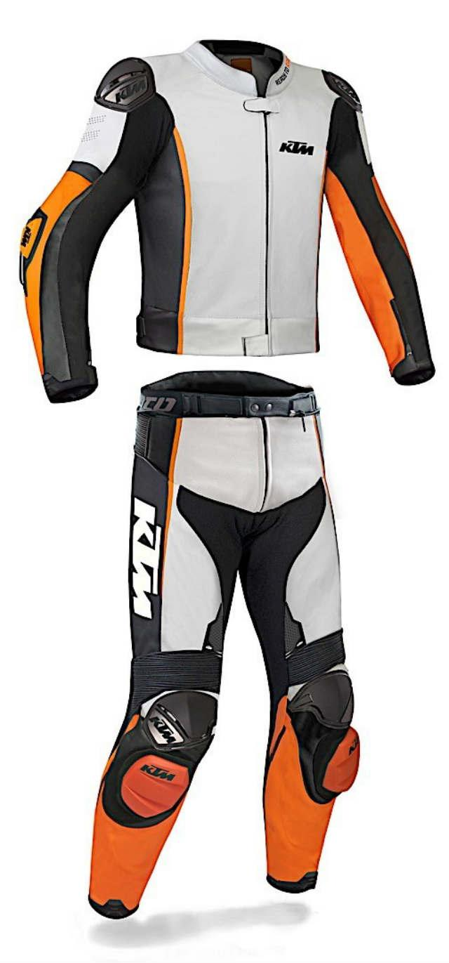 KTM two-piece custom riding gear