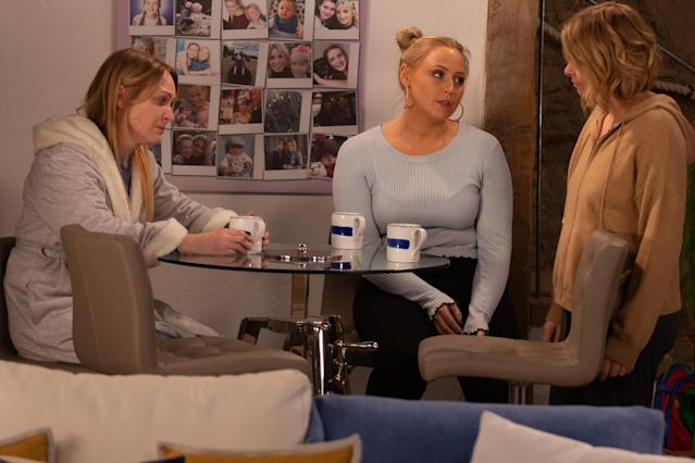 Charity Dingle [EMMA ATKINS] is short with Tracy Metcalfe [AMY WALSH] and things reach boiling point with the pair. Can Vanessa Woodfield [MICHELLE HARDWICK] help build bridges? (ITV Plc)