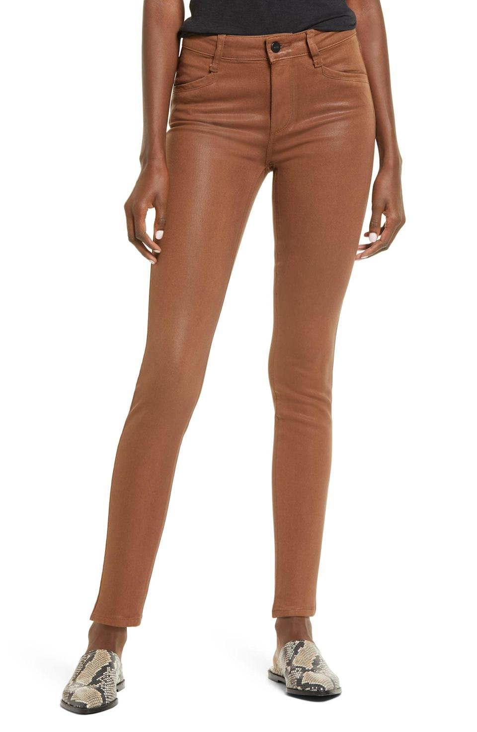 <p>I'm drawn to the color of these <span>PAIGE Hoxton High Waist Ankle Skinny Jeans</span> ($229).</p>