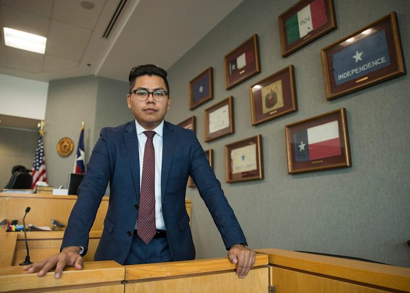 Pedro Villalobos, 28, a Travis County prosecuting attorney at the Blackwell-Thurman Criminal Justice Center in Austin, Texas, is among the DACA recipients awaiting a decision from the Supreme Court.