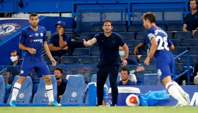 Frank Lampard watched his side earn a huge three points (Paul Childs/NMC Pool/PA)