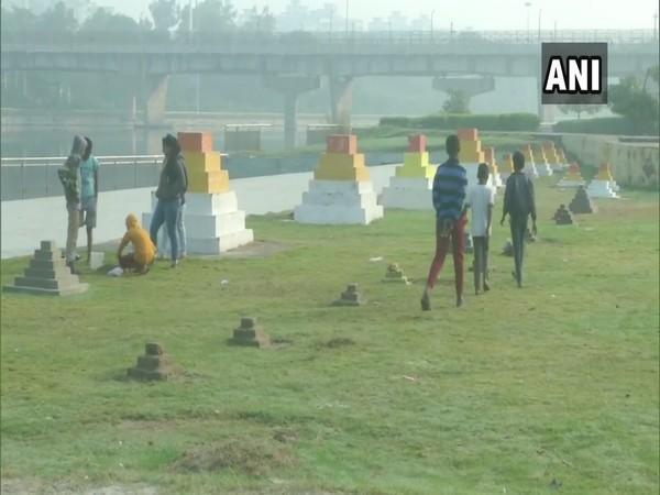 Preparations made for Chhath Puja in Lucknow. (Photo/ANI)