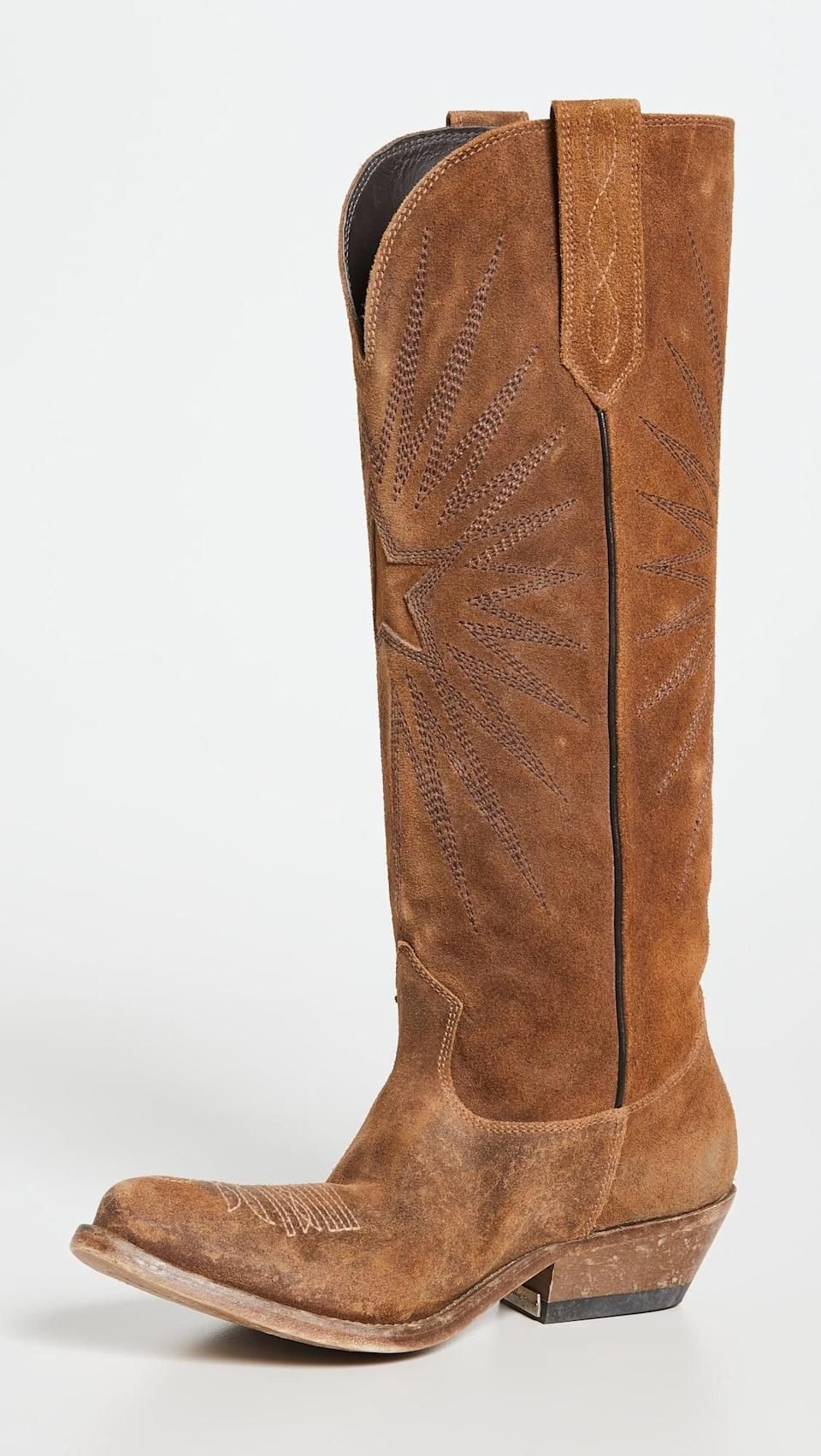 <p>These <span>Golden Goose Wish Star Boots</span> ($890) look authentic and cool. We're dreaming of wearing them with a long dress or tucked into pants.</p>