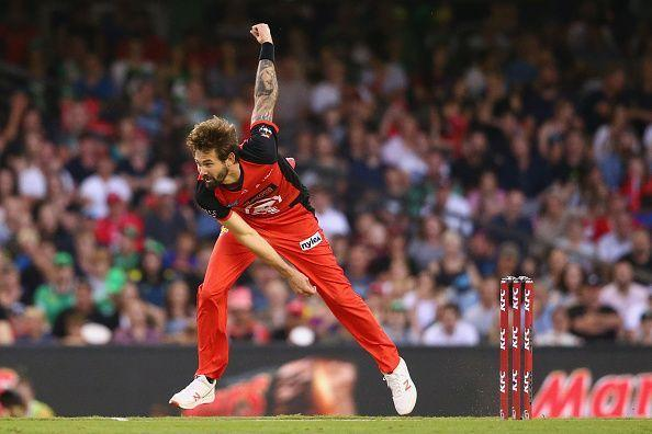 Kane Richardson is currently BBL's highest wicket-taker