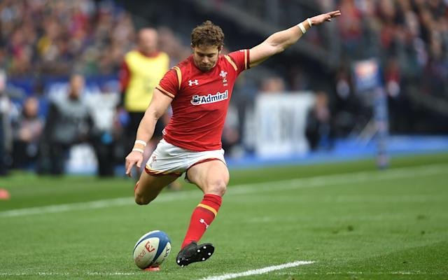 <span>Leigh Halfpenny kicks Wales into the lead</span> <span>Credit: Huw Evans/REX/Shutterstock </span>