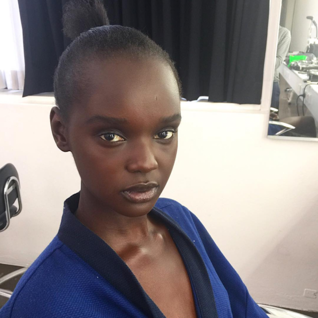 <i>21-year-old model Nyadak Thot – professionally known as Duckie – took to Instagram to discuss hairstylists' lack of knowledge [Photo: Instagram/duckieofficial]</i>