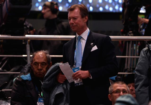 SOCHI, RUSSIA - FEBRUARY 07: Grand Duke Henri of Luxembourg attends the Opening Ceremony of the Sochi 2014 Winter Olympics at Fisht Olympic Stadium on February 7, 2014 in Sochi, Russia. (Photo by Pascal Le Segretain/Getty Images)