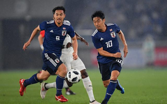 Japan's 2018 World Cup squad is thoroughly analysed below. This is your guide to everything you need to know about the players who will be representing their country at the tournament, when their games are taking place, who is in charge of the team, the key men to watch and how they're likely to fare in Russia. To read our comprehensive guide simply register with the Telegraph and log in to your account. Japan's World Cup squad - the 23 names 23-man final squad: Goalkeepers: Eiji Kawashima (Metz), Masaaki Higashiguchi (Gamba Osaka), Kosuke Nakamura (Kashiwa Reysol). Defenders: Yuto Nagatomo (Galatasaray), Tomoaki Makino (Urawa Reds), Wataru Endo (Urawa Reds), Maya Yoshida (Southampton), Hiroki Sakai (Marseille), Gotoku Sakai (Hamburg), Gen Shoji (Kashima Antlers), Naomichi Ueda (Kashima Antlers). Midfielders: Makoto Hasebe (Eintracht Frankfurt), Keisuke Honda (Pachuca), Takashi Inui (Eibar), Shinji Kagawa (Dortmund), Hotaru Yamaguchi (Cerezo Osaka), Genki Haraguchi (Fortuna Dusseldorf), Takashi Usami (Fortuna Dusseldorf), Gaku Shibasaki (Getafe), Ryota Oshima (Kawasaki Frontale). Forwards: Shinji Okazaki (Leicester), Yuya Osako (Werder Bremen), Yoshinori Muto (Mainz). SAMURAI BLUE (Japan National Team) Squad, Schedule - 2018 FIFA World Cup Russia #footballhttps://t.co/gYocS44u09pic.twitter.com/HTfeLx4YRH— jfa_en (@jfa_en) May 31, 2018 Japan's World Cup 2018 fixtures Colombia: Tuesday, June 19 at 1pm Poland: Sunday, June 24 at 7pm Senegal: Thursday, June 28 at 3pm What odds are Japan to win the World Cup? 200/1 The kits See where Japan's shirts ends up in our ranking of all 64 World Cup shirts below: World Cup kits ranked Who's the coach? Akira Nishino, the former Japan technical director, was parachuted into the job after the abrupt sacking of Vahid Halilhodzic in April. An unknown quantity. Who's the star? Keisuke Honda is still the talisman, and should be happier now Halilhodzic - with whom he had a rocky relationship - is out of the picture. Keisuke Honda in action for Japan Credit: Getty Images Best thing about them Should have noisy and loyal support, and will defend stoutly enough. They will have to. Worst thing about them Compared to recent Japan teams, this is a desperately limited squad - one that needed an injury-time equaliser to draw with Haiti last October. World Cup 2018 | Fixtures, groups, squads and more You may recognise… The two Shinjis - Kagawa and Okazaki - are both familiar faces for Premier League supporters, and the side's best players. Cameramen will be picking out… Shots of improbably large groups of fans watching giant screens back home. Fans' favourite chant 'Vamos Nippon' is a terrace standard, accompanied by manic bouncing and flag-waving. On-field prediction An early exit, leading to shame-faced public apologies from the Japanese equivalents of Martin Glenn and Dan Ashworth. Off-field prediction The team wins the much-coveted 'Best Bleached Hair' award. Full 2018 World Cup squad lists and guides | Star to watch, odds, fans' chants and more WorldCup - newsletter promo - end of article