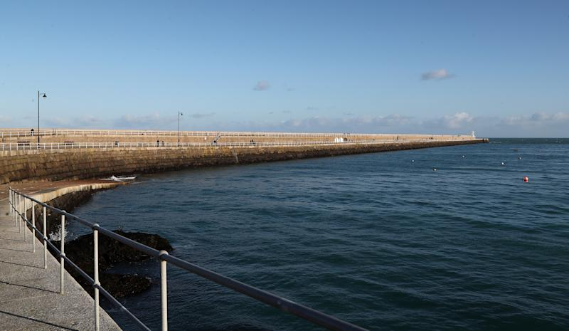 NOT FOR PUBLICATION IN JERSEY General view of St. Catherine's Breakwater, close to where Lauren Etchells arrived in Jersey in July 2019, as she is due at Jersey Magistrates' Court for the sentencing of Lauren Etchells and her parents, Brian and Angela for child neglect.