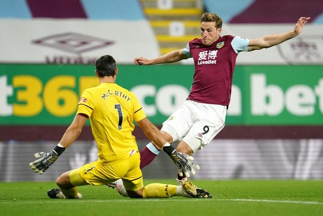 Chris Wood, right, had a goal disallowed for the hosts