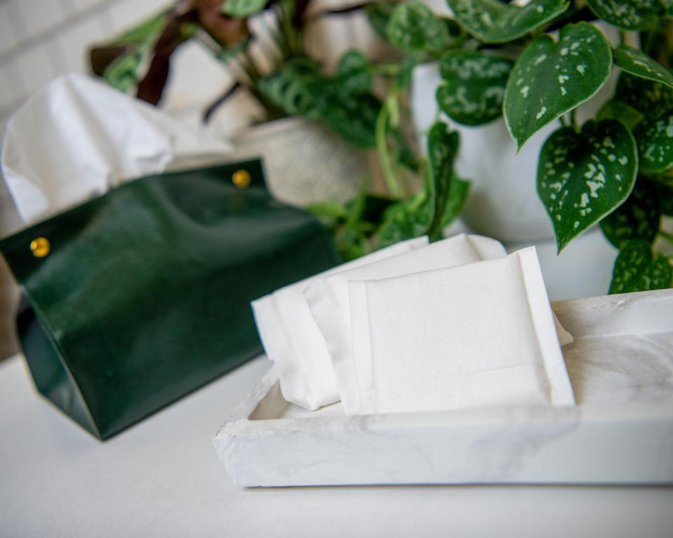 Planera's sanitary pads are completely flushable. (Planera)