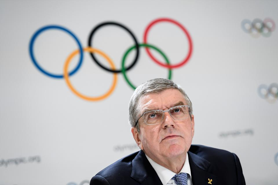 International Olympic Committee (IOC) President Thomas Bach attends a press conference closing an Olympic session in Lausanne on January 10, 2020. (Photo by FABRICE COFFRINI / AFP) (Photo by FABRICE COFFRINI/AFP via Getty Images)