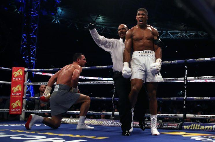 Joshua beat Klitschko in a stunning fight