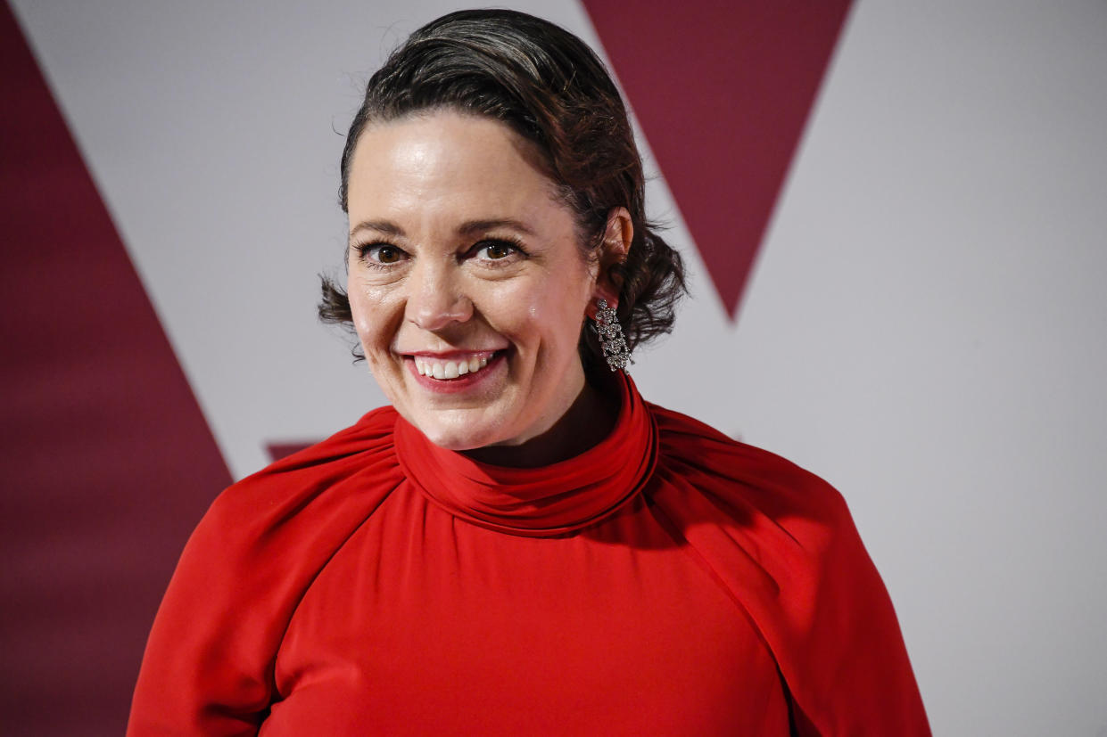 Olivia Colman is backing the calls for a 'gadget tax'. (Photo by Alberto Pezzali-Pool/Getty Images)