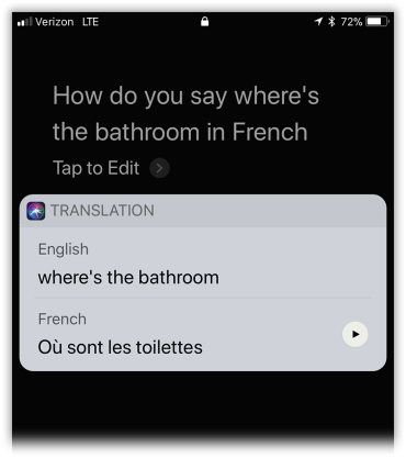 Siri is now a polyglot! She can translate for you.