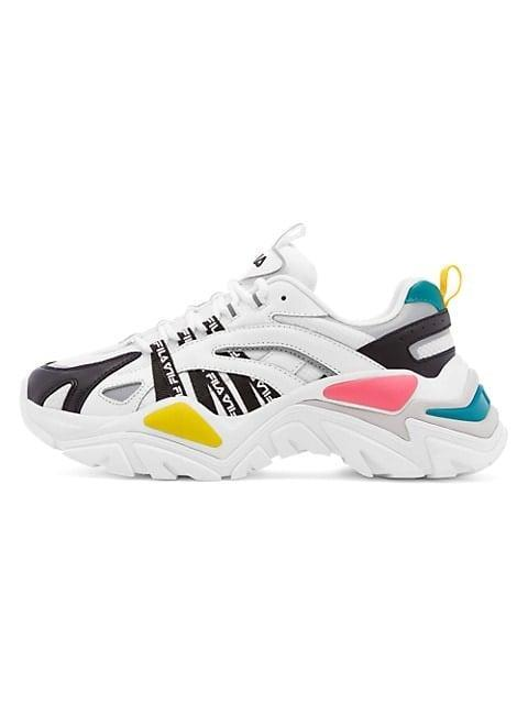 <p><span>Fila Electrove Colorblock Leather &amp; Mesh Sneakers</span> ($80)</p>