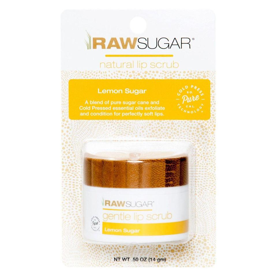 """<p>Sure, you could exfoliate your lips with an old toothbrush and some watered-down sugar — or you can treat yourself to a fancier organic scrub from Raw Sugar. It'll set you back $8, but oils like safflower and jojoba will keep your lips soft and hydrated in ways your DIY scrub can't.</p><br><br><strong>Raw Sugar</strong> Lip Sugar Scrub - Lemon Sugar, $7.99, available at <a href=""""https://www.target.com/p/raw-sugar-lip-sugar-scrub-lemon-sugar-0-5oz/-/A-75557603"""" rel=""""nofollow noopener"""" target=""""_blank"""" data-ylk=""""slk:Target"""" class=""""link rapid-noclick-resp"""">Target</a>"""