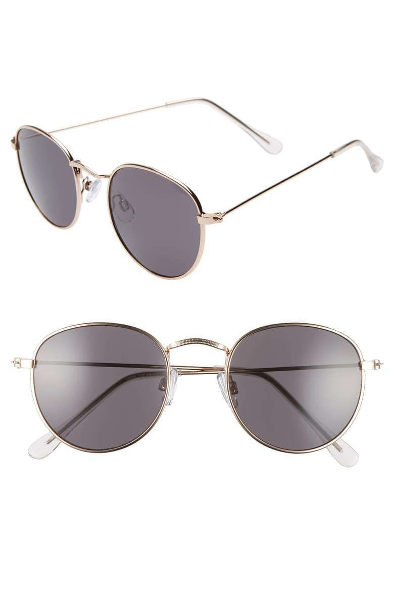 <p>You can't go wrong with these <span>BP. 48mm Round Metal Sunglasses</span> ($19).</p>