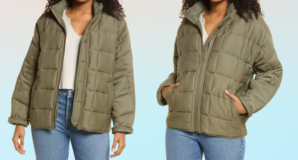 Add the Thread & Supply Dolman Sleeve Quilted Jacket to your cart before it sells out.