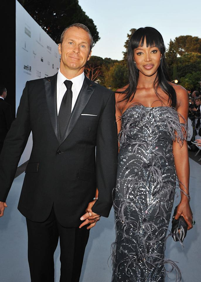 "Naomi Campbell met her real estate mogul boyfriend Vladislav Doronin at the 2008 Cannes Film Festival, and now lives with him in Moscow. The 40-year-old supermodel brought Doronin to her appearance on ""Oprah"" in May. Sitting in the studio audience, he revealed he was <a href=""http://www.oprah.com/oprahshow/Naomi-Campbells-Career-and-Controversies/7"" target=""new"">legally married but separated</a> from his wife of more than 10 years. ""We don't live together,"" he said. Campbell told Oprah, ""I like the men to wear the pants. I don't want to wear the pants. I like men who know what they want, know what they're doing, make their own decisions."" <a href=""http://www.wireimage.com"" target=""new"">WireImage.com</a> - May 20, 2010"