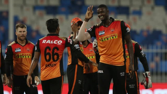 Jason Holder impressed with the ball, picking up three wickets as the Punjab Kings crawled to a total of 125/7. SportzPics