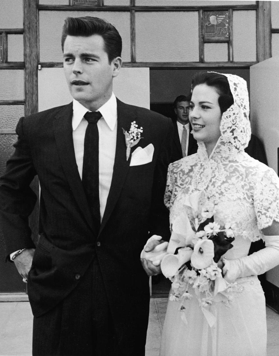 <p>Robert Wagner and Natalie Wood celebrated their <em>first</em> wedding on December 28, 1957 in Arizona. The couple divorced in 1962, only to rekindle their relationship and marry again in 1972. </p>