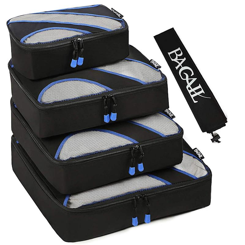 The Bagail Packing Cubes Set is a must-have for any traveler, whether you're off on a weeklong cruise or on a work trip for a few days. (Photo: Amazon)