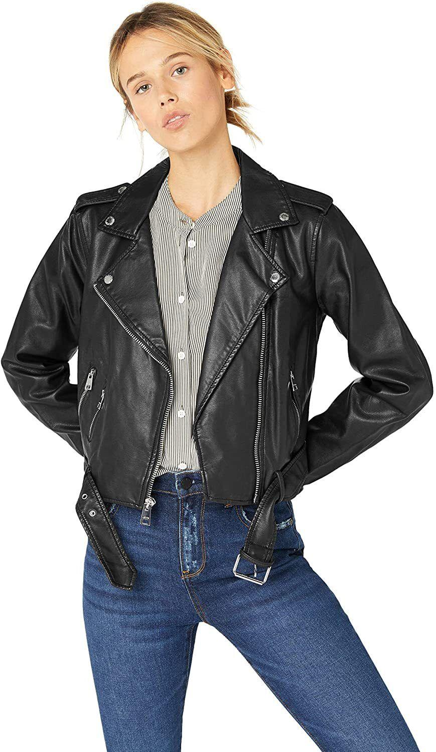 """Throw this on over any outfit to look instantly cooler.<br /><br /><strong>Promising review:</strong>""""I absolutely love this jacket!!! I've had several faux leather jackets that fit me okay, but this one fit me PERFECTLY, and it's well made. I think I'm going to order another one just to have it."""" —<a href=""""https://amzn.to/3e1K8sI"""" target=""""_blank"""" rel=""""nofollow noopener noreferrer"""" data-skimlinks-tracking=""""5753950"""" data-vars-affiliate=""""Amazon"""" data-vars-href=""""https://www.amazon.com/gp/customer-reviews/RO495SAVG13JI?tag=bfabby-20&ascsubtag=5753950%2C1%2C30%2Cmobile_web%2C0%2C0%2C0"""" data-vars-keywords=""""cleaning,fast fashion"""" data-vars-link-id=""""0"""" data-vars-price="""""""" data-vars-retailers=""""Amazon,Levi"""">Denise</a><br /><br /><strong>Get it from Amazon for<a href=""""https://amzn.to/3x504DA"""" target=""""_blank"""" rel=""""nofollow noopener noreferrer"""" data-skimlinks-tracking=""""5753950"""" data-vars-affiliate=""""Amazon"""" data-vars-asin=""""B07FDL5WJN"""" data-vars-href=""""https://www.amazon.com/dp/B07FDL5WJN?tag=bfabby-20&ascsubtag=5753950%2C1%2C30%2Cmobile_web%2C0%2C0%2C15973668"""" data-vars-keywords=""""cleaning,fast fashion"""" data-vars-link-id=""""15973668"""" data-vars-price="""""""" data-vars-product-id=""""18042258"""" data-vars-product-img=""""https://m.media-amazon.com/images/I/31n-xUC9QRL.jpg"""" data-vars-product-title=""""Levi's Women's Faux Leather Belted Motorcycle Jacket (Standard and Plus Sizes), plum, X-Small"""" data-vars-retailers=""""Amazon,Levi"""">$120</a>(available in sizes XS-4X and in 31 colors).</strong>"""