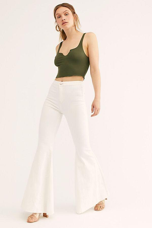 """<p><a href=""""https://www.popsugar.com/buy/Free-People-Just-Float-Flare-Jeans-521238?p_name=Free%20People%20Just%20Float%20On%20Flare%20Jeans&retailer=freepeople.com&pid=521238&price=78&evar1=fab%3Aus&evar9=46928425&evar98=https%3A%2F%2Fwww.popsugar.com%2Ffashion%2Fphoto-gallery%2F46928425%2Fimage%2F46928441%2FFree-People-Just-Float-On-Flare-Jeans&list1=free%20people%2Cpants&prop13=mobile&pdata=1"""" rel=""""nofollow"""" data-shoppable-link=""""1"""" target=""""_blank"""" class=""""ga-track"""" data-ga-category=""""Related"""" data-ga-label=""""https://www.freepeople.com/shop/just-float-on-flare-jeans2"""" data-ga-action=""""In-Line Links"""">Free People Just Float On Flare Jeans</a> ($78)</p>"""
