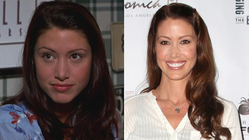 Shannon Elizabeth in 1999 and 2019. (Credit: Universal/Faye Sadou/MediaPunch/IPX)