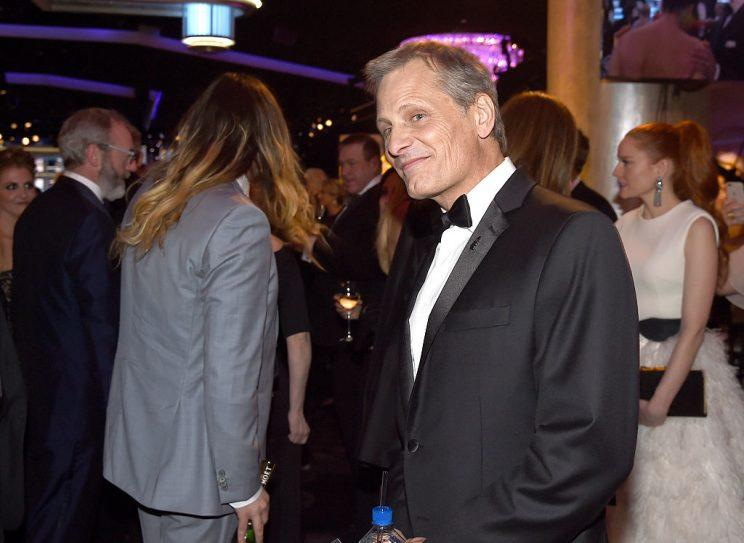 Viggo Mortensen takes in the action. (Photo: Getty Images)