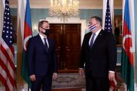 FILE PHOTO: U.S. Secretary of State Pompeo meets with Azerbaijan's Foreign Minister Jeyhun Bayramov at the State Department in Washington