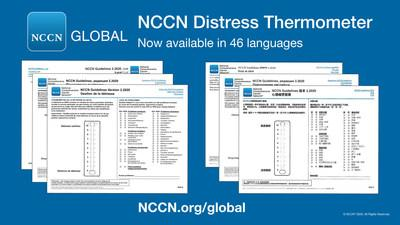 NCCN Distress Thermometer - now available in 46 languages at NCCN.org/global.