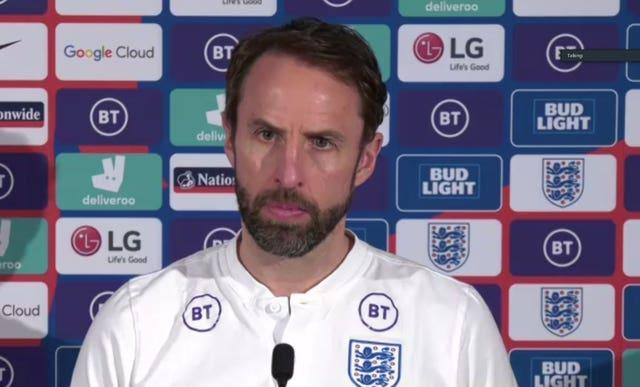 Gareth Southgate will speak to the media on Tuesday afternoon