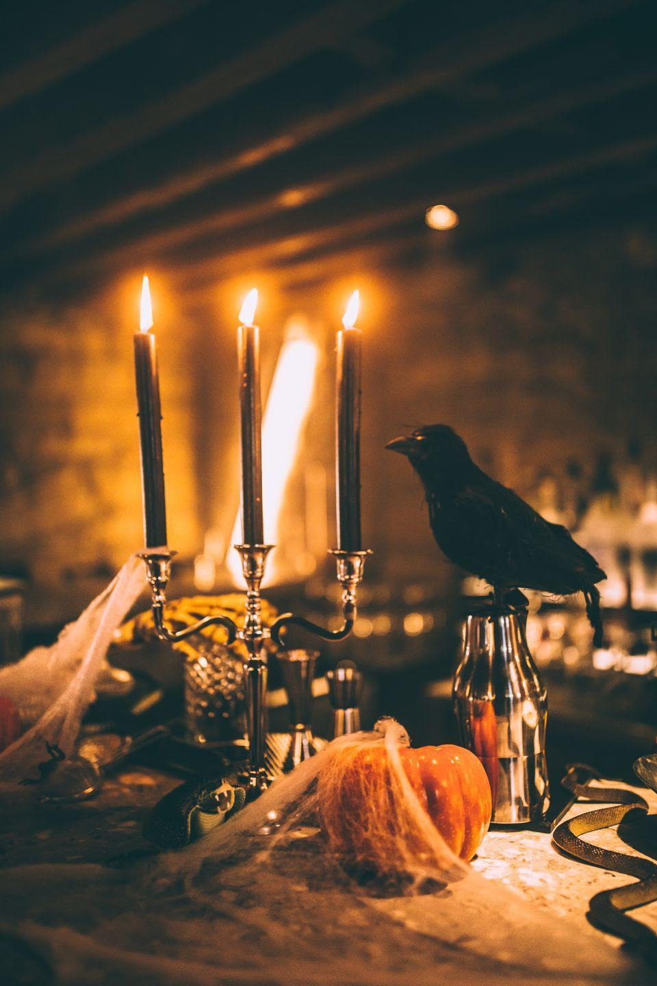 """<p><strong><em>What does the word """"Halloween"""" mean?</em></strong></p><p><strong>Answer:</strong> Hallowed Evening or Holy Night.</p>"""