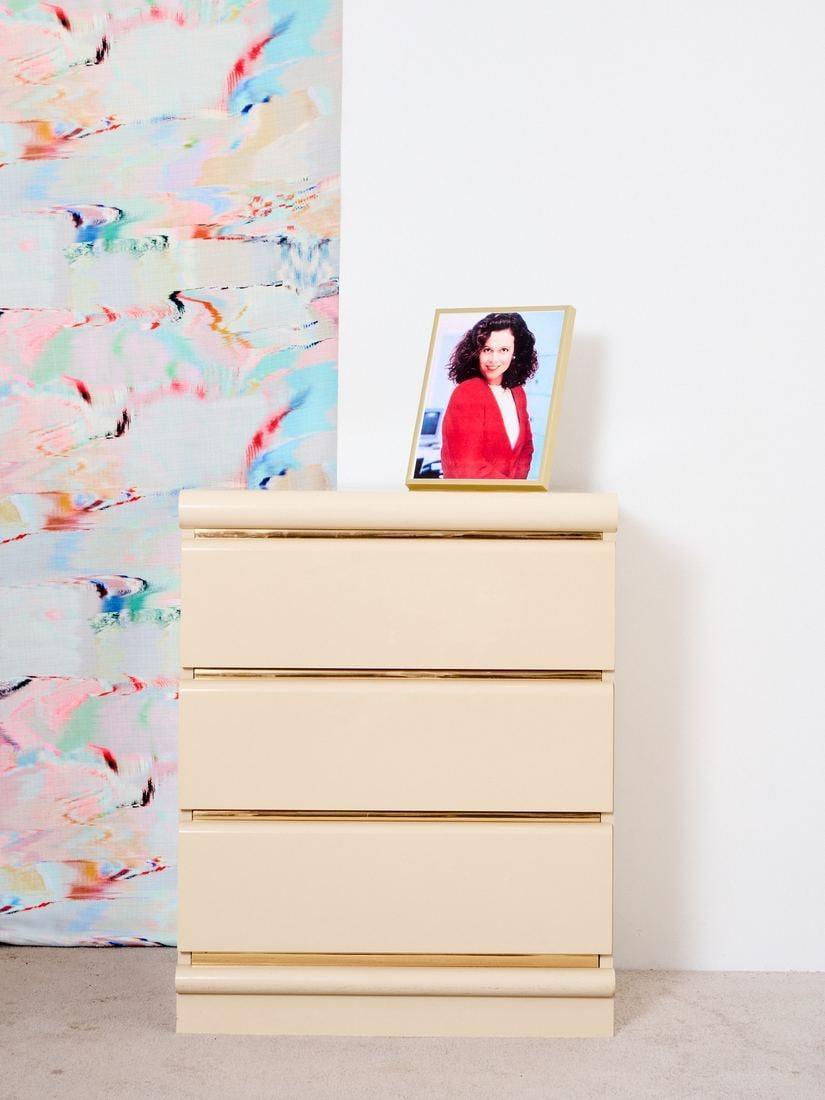 <p>The '80s called and they want this <span>3-Drawer Laminate Chest</span> ($600) back. With its glossy surface and golden accents, it will make a glamorous statement in your bedroom.</p>