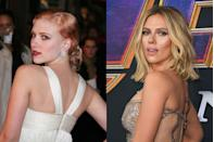 <p>When Scarlett was first getting her start in the industry, she was known for her bold, but beautiful, red carpet moments – including this one featuring light pink hair and a red lip. However, the past few years she's consistency stuck with a soft blonde hair color and natural makeup.</p>