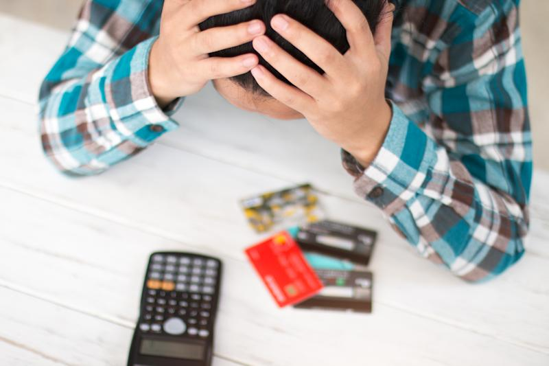 Businesses stress with credit cards.