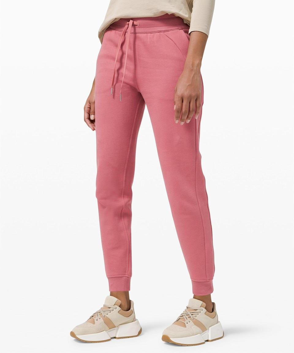 <p>Think pink in these <span>Lululemon Scuba Joggers</span> ($79, originally $118).</p>