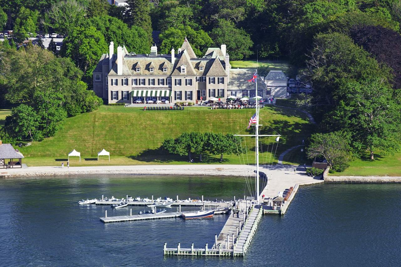 """<p>The New York Yacht Club acquired <a href=""""https://nyyc.org/clubhouses"""" target=""""_blank"""">Harbour Court</a> in Newport, Rhode Island, in 1987. The grand, Norman-style mansion was built in 1906 and sits on eight acres overlooking Brenton's Cove. The connection between the New York Yacht Club and Newport dates back to the club's founding in the mid-1800s, when the NYYC founders sailed from the Battery to Newport on their inaugural summer cruise. </p>"""