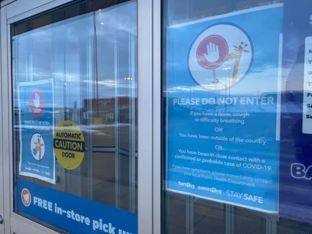Toys R Us on Buchanan Drive in Charlottetown was closed when CBC visited late Wednesday afternoon, after it was identified as a public exposure site for COVID-19. (Cody MacKay/CBC - image credit)